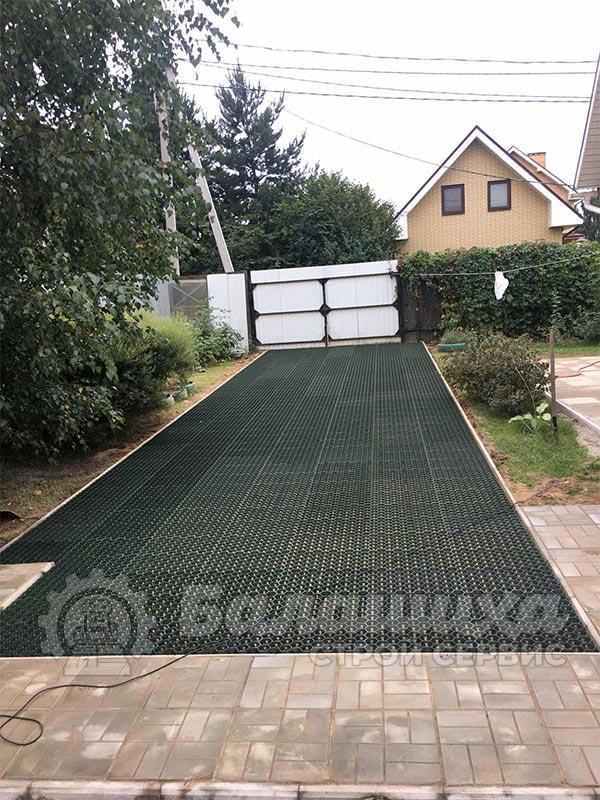 укладка плитки газонная решетка фото 2
